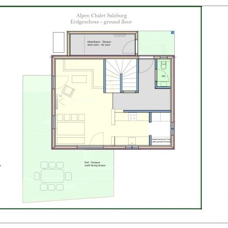 EG Grundriss / Raumplan Ferienhaus
