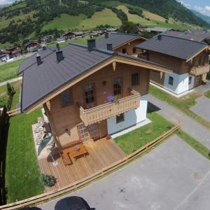 Luftbild vom Ferienhaus in Salzburg